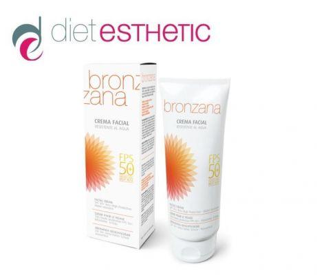 Слънцезащитен крем за лице Diet Esthetic BRONZANA SPF50+, 75 ml