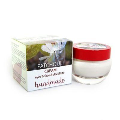 Крем за лице с Пачули - ръчно приготвен - изглаждащ и стягащ, 50 ml
