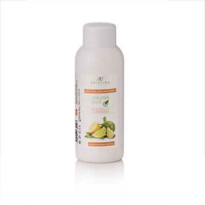 Тоалетно мляко за лице, очи и устни Козметика Христина, 150 ml - Лимон, Лайм и Мента