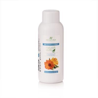 Тоалетно мляко за лице, очи и устни Козметика Христина, 150 ml - Невен