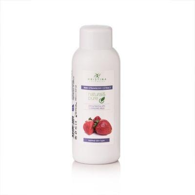 Тоалетно мляко за лице, очи и устни Козметика Христина, 150 ml - Ягоди