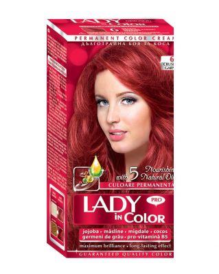 Крем-боя за коса Lady in Color PRO № 6 - гранат