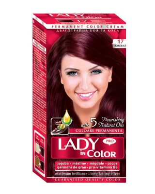 Крем-боя за коса Lady in Color PRO № 17 - бордо