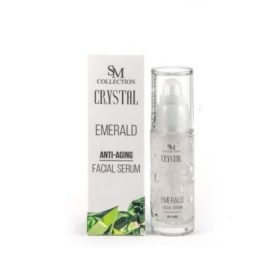 Серум за лице Sezmar Collection, 30 ml - с Изумруден прах, изглаждащ ефект