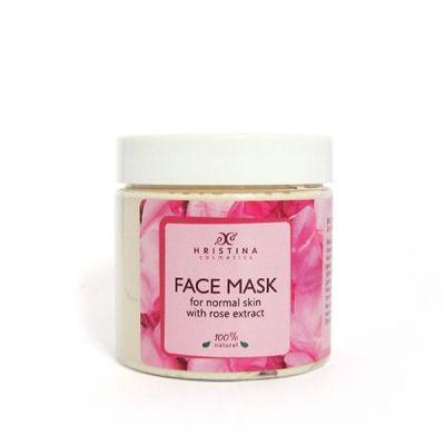 Маска за лице Козметика Христина, 200 ml - с Роза, за нормална кожа