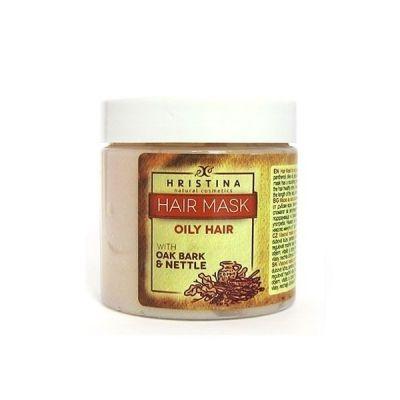 Маска за коса Козметика Христина, 200 ml - за мазна коса, с Дъбови кори