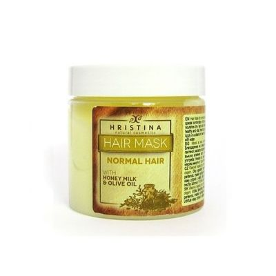 Маска за коса Козметика Христина, 200 ml - за нормална коса, с Мед, Мляко и Зехтин