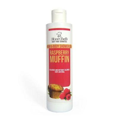 Душ-гел за коса и тяло Stani Chef's Body Food, 250 ml - Малинов Мъфин