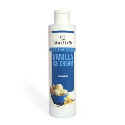 Душ-гел за коса и тяло Stani Chef's Body Food, 250 ml - Ванилов сладолед