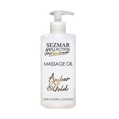 Професионално масажно масло за тяло Sezmar Professional, 500 ml - Злато & Кехлибар