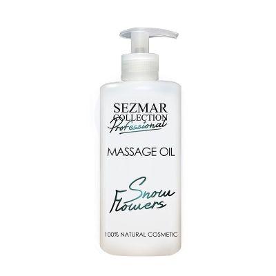 Професионално масажно масло за тяло Sezmar Professional, 500 ml - Снежни цветя