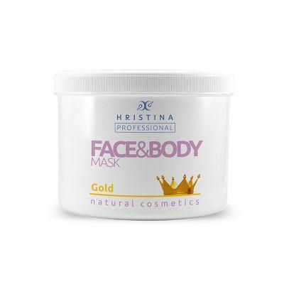 Професионална маска за тяло Козметика Христина, 500 ml - Злато