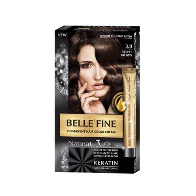 Крем-боя за коса Belle`Fine № 3.0 - кадифено-кафяв