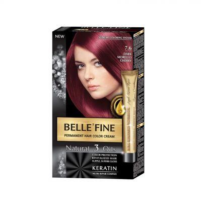 Крем-боя за коса Belle`Fine № 7.6 - вишнево-червен