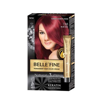 Крем-боя за коса Belle`Fine № 7.65 - червен рубин