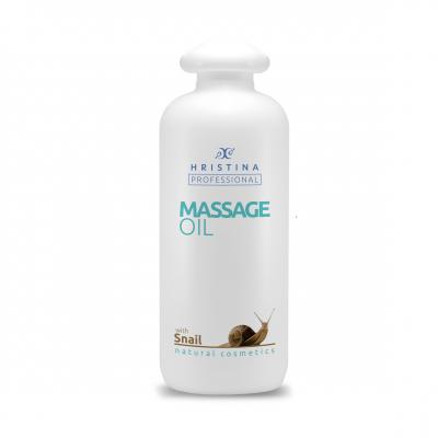 Професионално масажно масло за тяло Козметика Христина, 500 ml - Охлюви