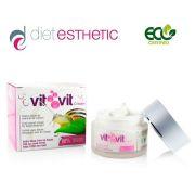 Крем за лице Diet Esthetic VIT VIT, 50 ml - със 100% натурална слуз от Охлюви, регенериращ